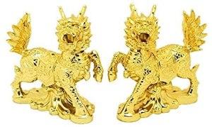 Golden Pair of Auspicious Chi Lin