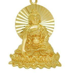 Golden Shakyamuni Buddha Key Chain1