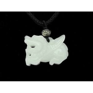 Good Fortune Crystal Pi Xiu Pendant Necklace1