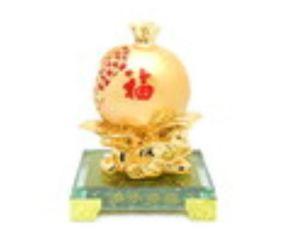 Good Fortune Golden Pomegranate for Infant Luck