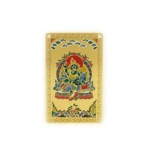 Green Jambhala Tibetan God of Wealth Card1