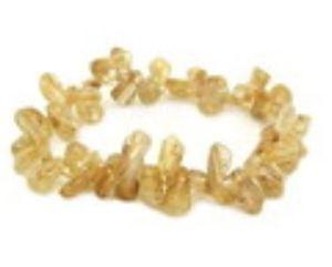 High Grade Golden Rutilated Quartz Chip Bracelet
