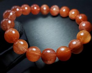 High Grade Red Rutilated Round Bracelet for Wealth