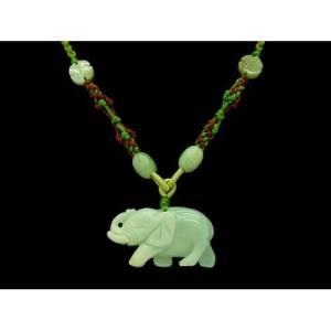 Jade Elephant Pendant Necklace1