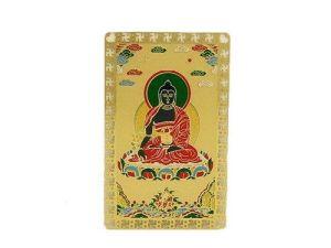 Medicine Buddha Protector Card Amulet