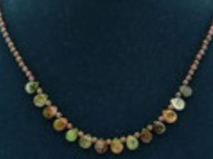 Mix Tear Drop Tourmaline with Round Garnet Necklace