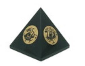 Obsidian Pyramid with Four Heavenly Guardians