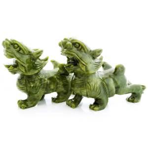 Pair of Green Pi Yao