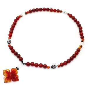 Red Agate Double Dorje Necklace