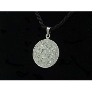Tibetan Six Syllable Mantra with HRIH Symbol Pendant1