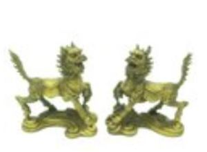 Twin Guardian Chi Lins (1 Pair)