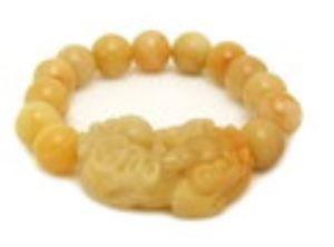 Yellow Jasper Pi Xiu with 12mm Beads Bracelet