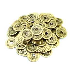 100 Auspicious I-Ching Coins