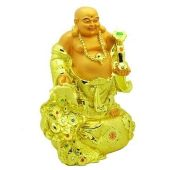 12 Golden Laughing Buddha with Treasure for Wealth Luck