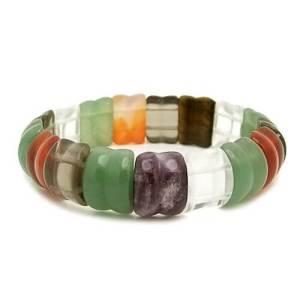 Bamboo Shaped Assorted Gems Crystal Bracelet1