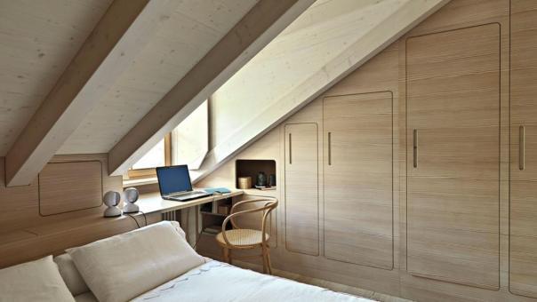 Bed Under Sloped Ceiling