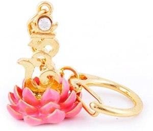 Bejeweled HUM on Pink Lotus Key Chain