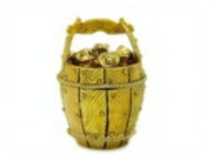 Bejeweled Wishfulfilling Golden Wealth Pot