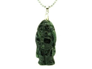 Black Jade Chong Kwei Pendant with Chain