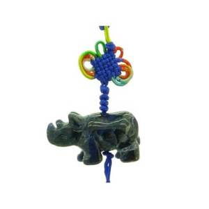 Blue Rhinocerous Tassel For Protection1