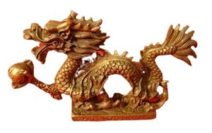 Brass Dragon Grasping Pearl of Success