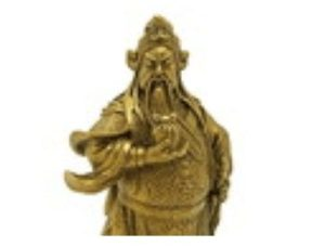 Brass Kwan Kong with Seal of Authority