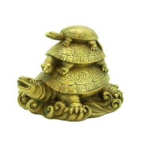 Brass Three Tiered Tortoises for Harmony1