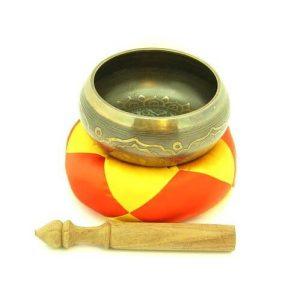 Bronze Tibetan Prayer Singing Bowl - 7 Inch Diameter1