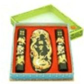 Chinese Calligraphy Ink Stick Set with Double Dragon