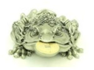 Exquisite Pewter Money Frog for Wealth Luck
