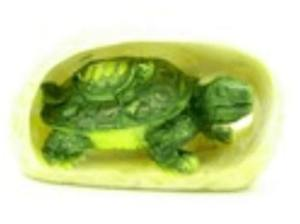 Feng Shui Green Tortoise with Baby