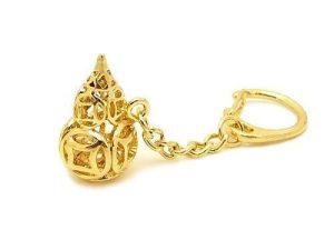 Golden Coin Wu Lou Key Ring