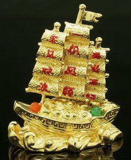 Golden Feng Shui Wealth Ship
