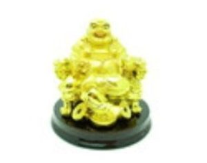 Golden Laughing Buddha for Good Fortune