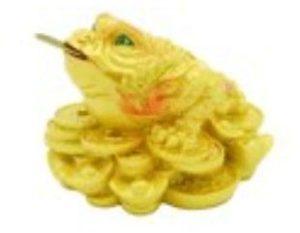Golden Money Frog with Treasures