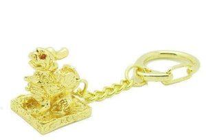 Golden PiYao Feng Shui Key Chain