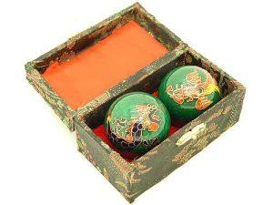 Green Dragon And Phoenix Chinese Health Balls1