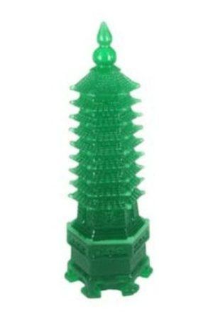 Green Nine Level Wen Chang Feng Shui Pagoda