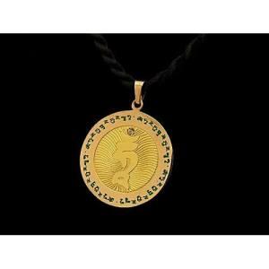 Green Tara Mantra Tam Medallion1