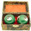 Green Yin Yang Chinese Health Iron Balls1