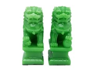Jadeite Fu Dogs For Protection (1 Pair)1