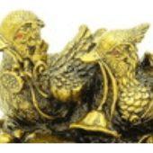 Mandarin Ducks with Lotus