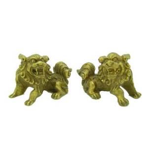 Mini Little Temple Lions (1 Pair)1