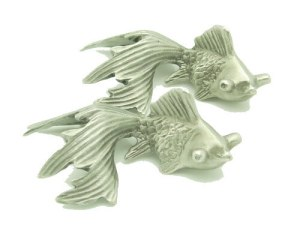 Pewter Good Fortune Gold Fish1