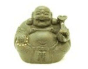Purple Clay Sand Zisha Laughing Buddha Holding Ruyi