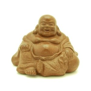 Purple Clay Sand Zisha Sitting Laughing Buddha (M)1