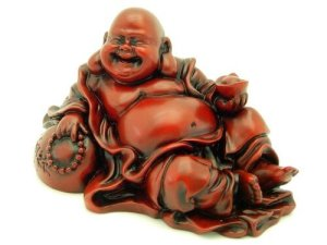 Red Robe Wealthy Resting Laughing Buddha1