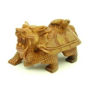 Sau Shan Stone Feng Shui Dragon Tortoise with Baby Tortoise1