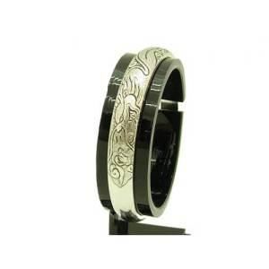 Single Dragon Tibetan Silver Bangle1