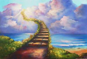 Stairway to Heaven Wall Mural